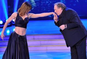 Gérard Depardieu fait le show dans le Danse avec les stars italien!